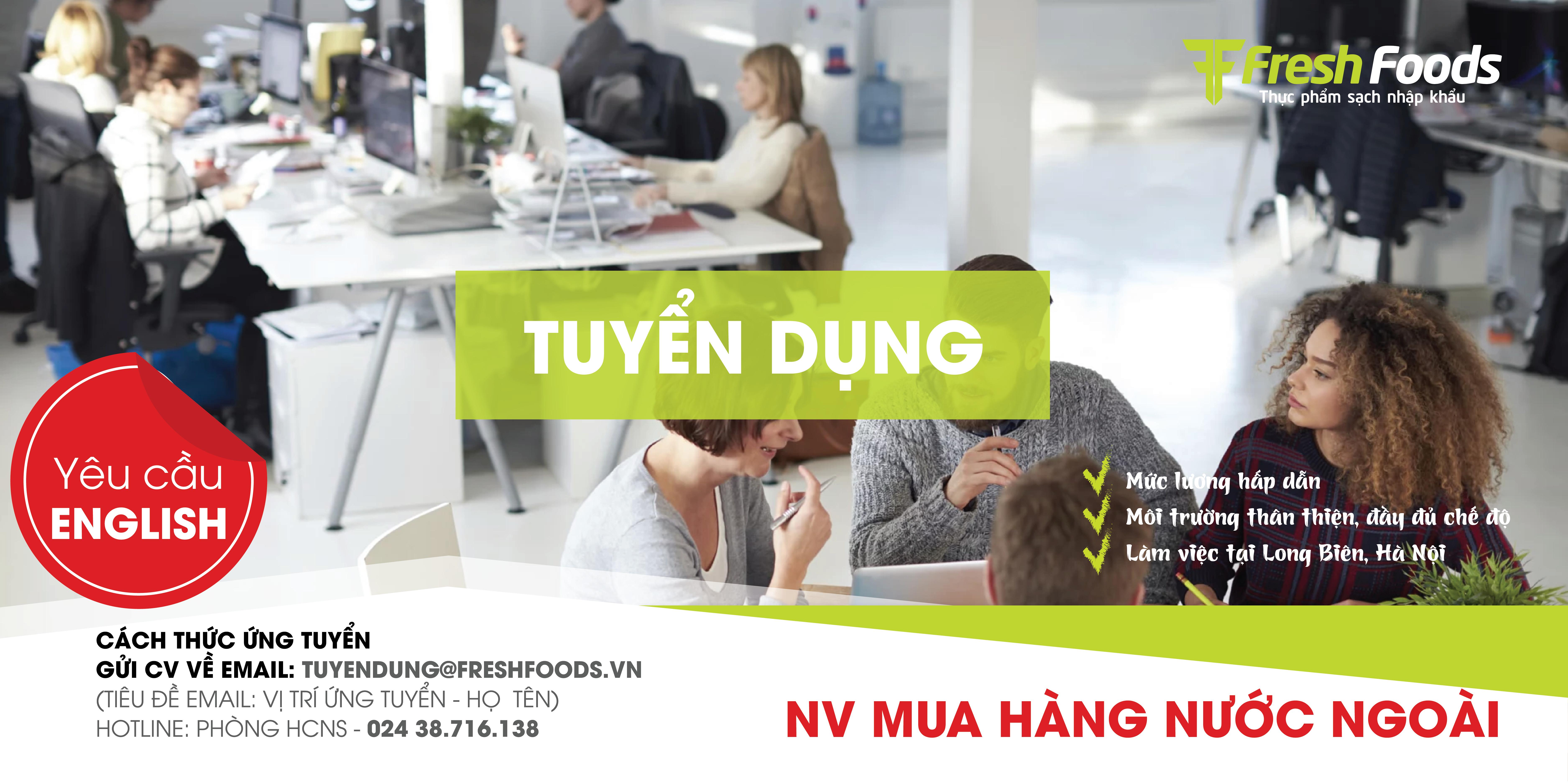 Hà Nội - Long Biên: Nhân viên mua hàng nước ngoài